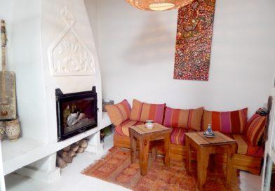 Maison style bohémien dans la medina